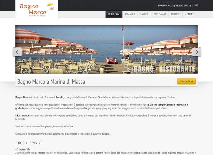 Bagno Marco - Sito web per Bagni