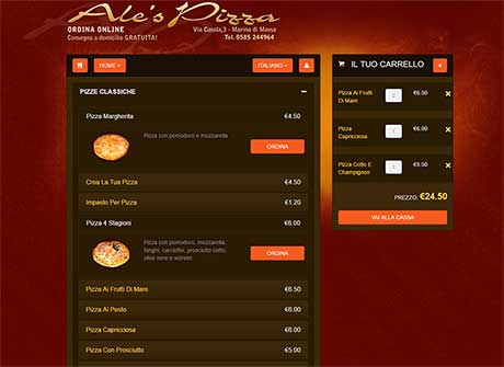 Ale's Pizza - ORDERS