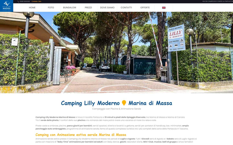 Il sito web di Camping Lilly Moderno � stato realizzato da Futuro Internet s.r.l.
