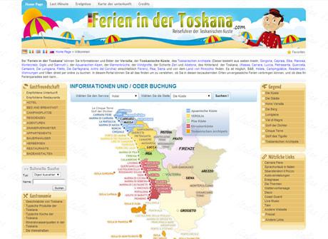 Il sito web di Ferien in der Toskana � stato realizzato da Futuro Internet s.r.l.