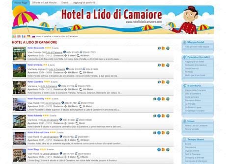 Il sito web di Hotel a Lido di Camaiore � stato realizzato da Futuro Internet s.r.l.