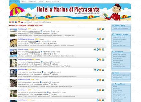 Il sito web di Hotel a Marina di Pietrasanta � stato realizzato da Futuro Internet s.r.l.